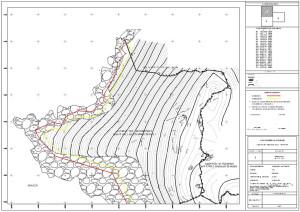 Διάγραμμα καθορισμού Αιγιαλού στη ν. Ίο